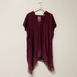 Johnny Was Embroidered Lace Tunic Dress